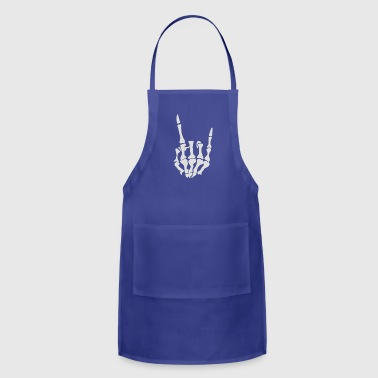 Rock Heavy Metal Hand Skeleton Halloween - Adjustable Apron