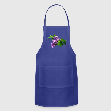 Lilac Lilacs and Leaves - Adjustable Apron