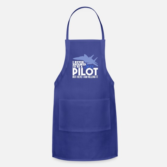Aviation Aprons - Funny Pilot TShirts Sexy Pilot US Navy Aviation - Apron royal blue