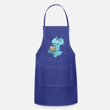 TRICERETOPS EATING COOKIES - Apron