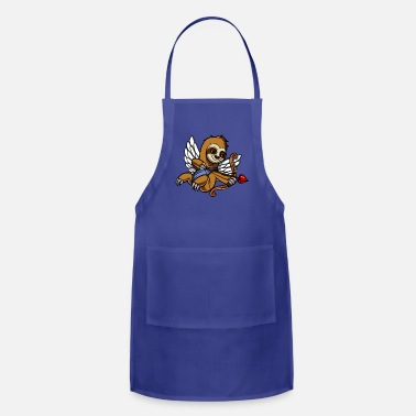 Funny Valetines Day Sloth Cupid Valetines Day Cute Animal - Apron