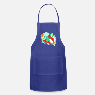 Trippy Psychedelic Lion - Adjustable Apron