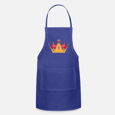 red gold crown - Apron