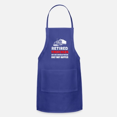 Funny Trucker Trucker - retired trucker like a regular trucker b - Apron