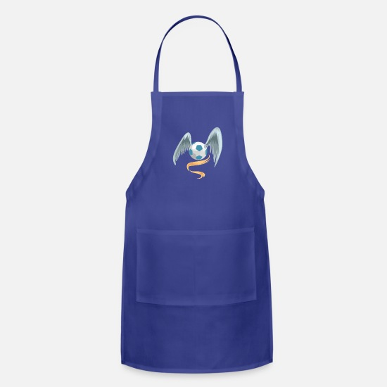Soccer Aprons - Soccer Ball - Apron royal blue