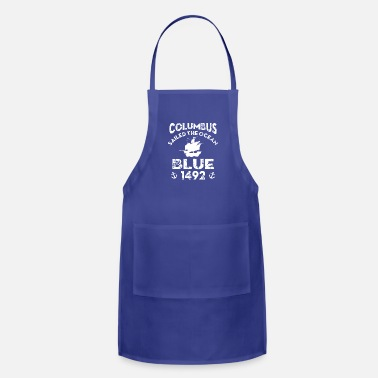 Ocean Christopher Columbus Day T shirt Adult Yout - Apron