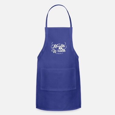 Wealth Health is Wealth - Adjustable Apron