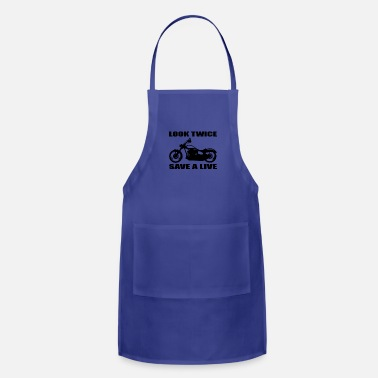 Motorcycle Look twice save a life 01 - Adjustable Apron