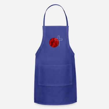 Red Cross Red Circle Cross - Adjustable Apron