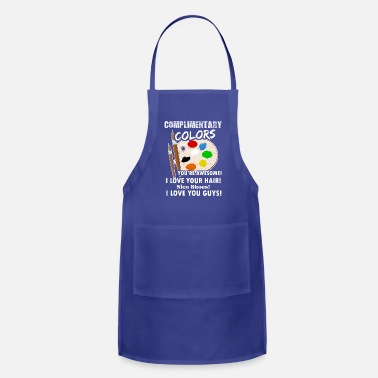 Artist Complimentary Colors Artist Artsy Graphic Shirt - Adjustable Apron