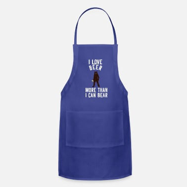 Party I Love Beer More Than I Can Bear Design Giftidea - Adjustable Apron