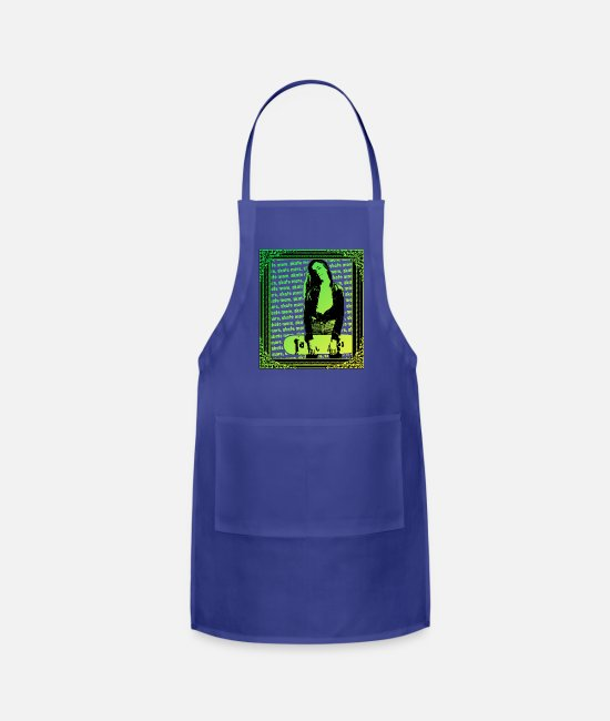 Venice Beach Aprons - Skater Girl skate more - Apron royal blue