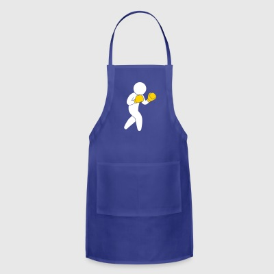 A Boxer Exercising In The Ring - Adjustable Apron