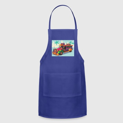 Philippine Jeep vector Illustration or Jeepney - Adjustable Apron