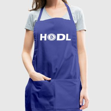 HODL BTC Bitcoin Cryptocurrency white - Adjustable Apron
