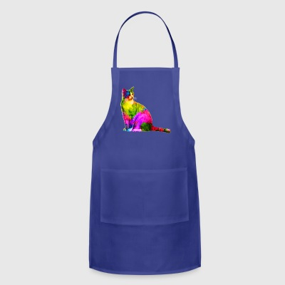 Colorful cat - Adjustable Apron