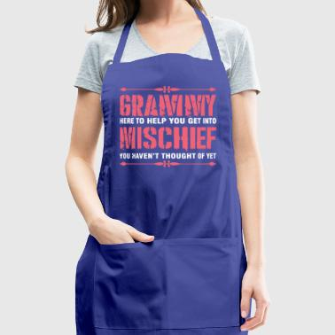 Grammy Here To Help You Get Into Mischief - Adjustable Apron