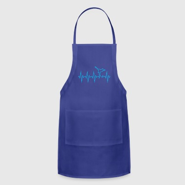 Heartbeat Ice Skating Line Graphics Pulse - Adjustable Apron