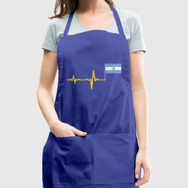 Heartbeat Argentina flag gift - Adjustable Apron