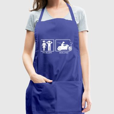 Adult Problem Solved Yelling Motorcycle Funny Stre - Adjustable Apron