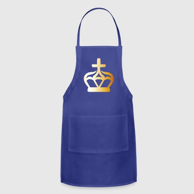 King prince gold VIP crovn cool lable vector image - Adjustable Apron