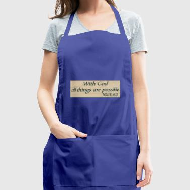 With God - Adjustable Apron