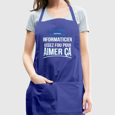 Crazy computer scientist crazy gift man - Adjustable Apron