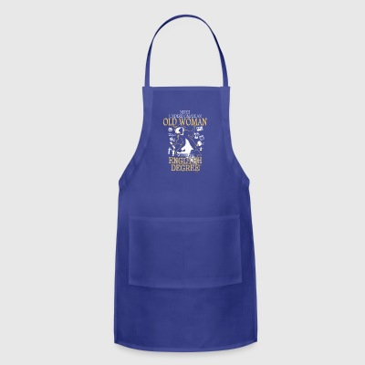OLD WOMAN WITH A ENGLISH DEGREE T-SHIRT - Adjustable Apron