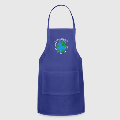 Save the Earth, stop war global warming - Adjustable Apron