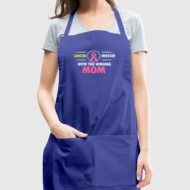 Cancer Messed With The Breast Cancer Mom - Adjustable Apron