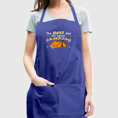 The Best Days Are Spent Camping Love - Adjustable Apron