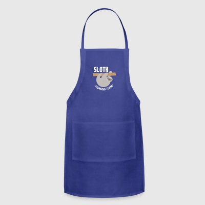 Adorable Sloth Running Team - Adjustable Apron