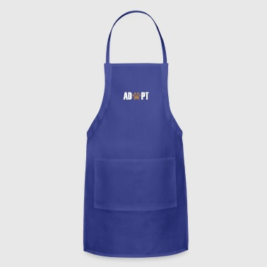 Adopted Paw gift for Dog Lovers - Adjustable Apron