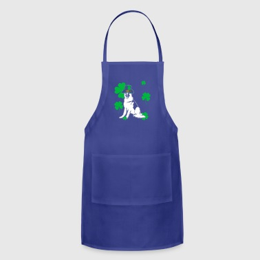 German shepherd dog St Patrick's Day Gift - Adjustable Apron