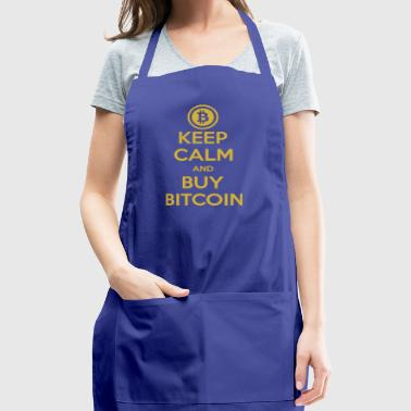 Keep Calm And Buy Bitcoin Gold Digital Currency - Adjustable Apron