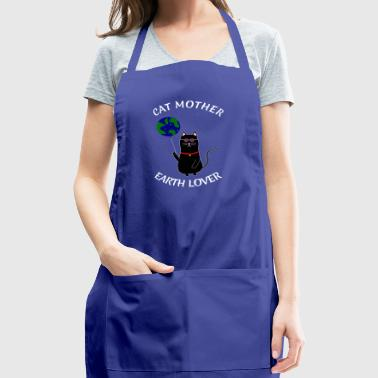 CAT MOTHER EATH LOVER MOTHERS DAY GIFT HIPPIE TOM - Adjustable Apron