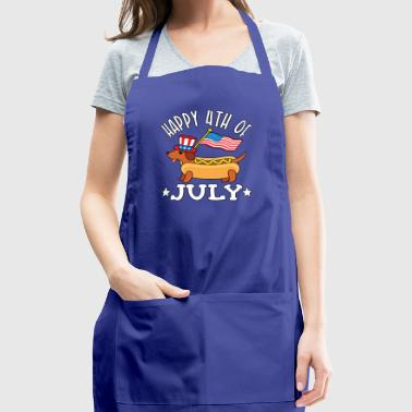 Patriotic Dachshund Hot Dog Americana 4th of July - Adjustable Apron