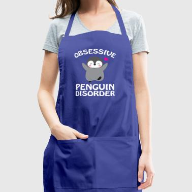 Obsessive Penguin Disorder Funny Pink - Adjustable Apron