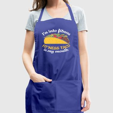 Funny Taco T Shirt Fit This Fitness Taco Funny - Adjustable Apron