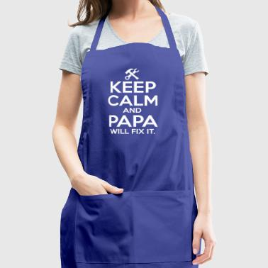 Keep Calm Mechanic Papa will Fix Gift T-shirt - Adjustable Apron