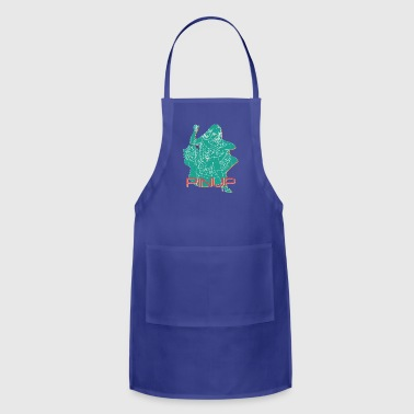 PINUP_GIRL_WITH_sew_colored - Adjustable Apron