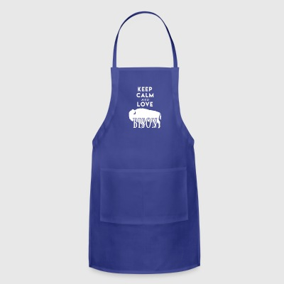 Keep Calm and Love Bison Shirt - Adjustable Apron
