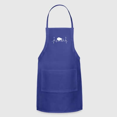 bison heartbeat tee shirt - Adjustable Apron