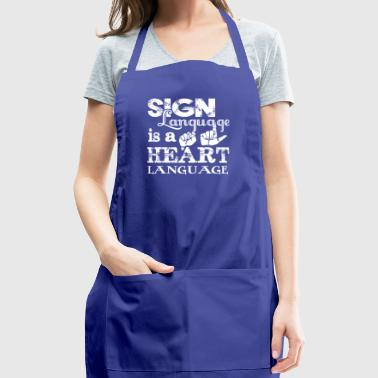 New Sign Language Shirt - Adjustable Apron