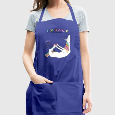 Bow Pose Unicorn Exhale Outline - Adjustable Apron