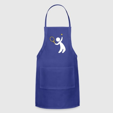 A Tennis Player Hits The Ball - Adjustable Apron