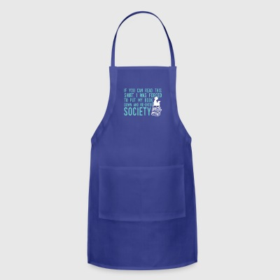 If You Can Read This Read Book Shirt - Adjustable Apron
