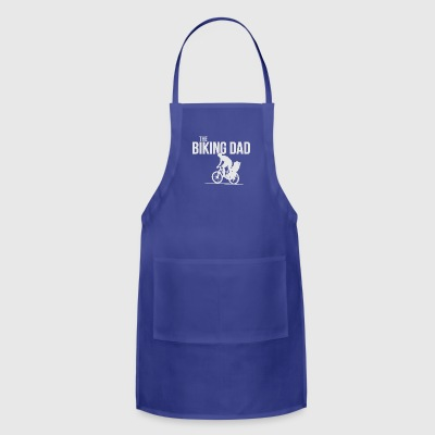 biking dad cycling with child son daughter present - Adjustable Apron
