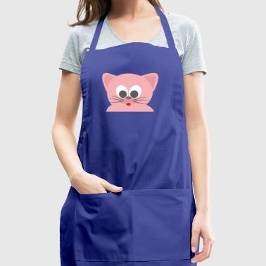 Cat pink with tongue - Adjustable Apron