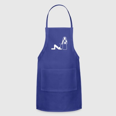 A Dominant Bride Holds Her Husband As A Slave - Adjustable Apron